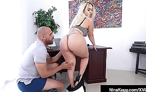 Big Butt Boss Nina Kayy Bangs Big Black Cock Employee!