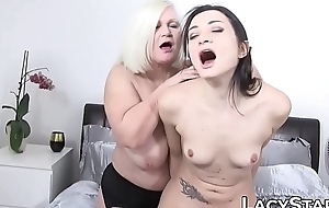 Lascivious GILF tits discouraged before toying and oral
