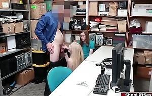 Hot Shoplifter fucked while bf watching