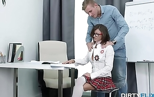 Dirty Flix - Nerdy slut Sandra Wellness gets drilled