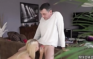 Teen slut double fisting first time Sleepy fellow missed how his