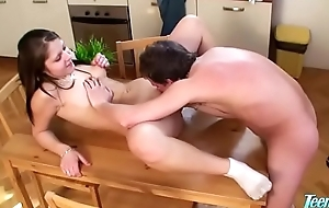 Cousin Blowing Me Lower than Thanksgiving Table - WWW.FAPLIX.COM