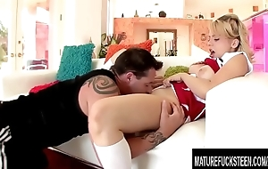 Cute cheerleader Aurora Monroe pounded