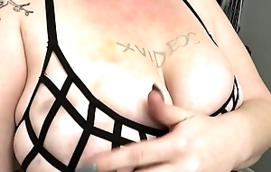 Big natural tits with nipple piercings verification video