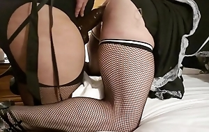 Hotel date night with crossdresser hubby and femdom wife BBC strapon attempt BBC attempt 1