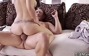 Old mom anal hd together with breakfast handjob man Rough fuck-a-thon for