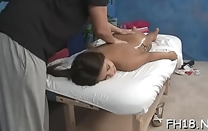 Charming fucked hard by her massage therapist