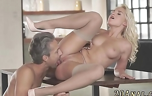 Cutie anally rides dong