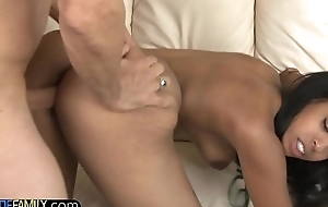 Ebony Stepdaughter craves stepdad flannel