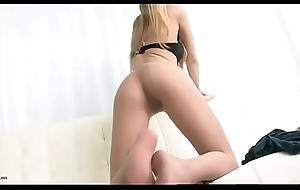 Russian Long Legged Blonde Teasing In Tan Pantyhose - Nyloncams