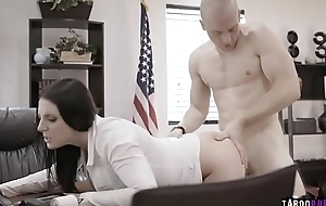 A smarmy looking cock in Angela&#039_s pussy