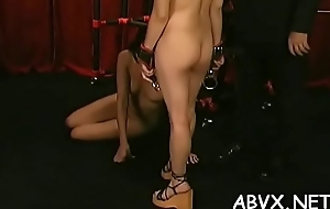 Extreme bondage with hot mommy and young daughter