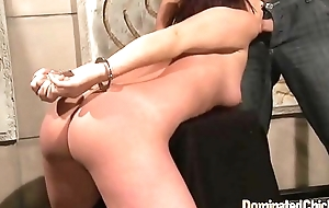 Facefucked submissive gets jizzsplattered