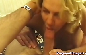 Pregnant blonde slut fucked hard