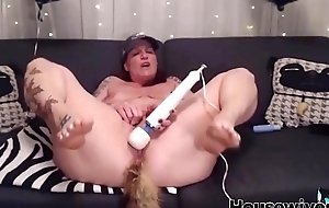 Mature housewife with butt plug