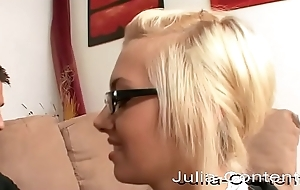 Blonde secretary makes an amateur video