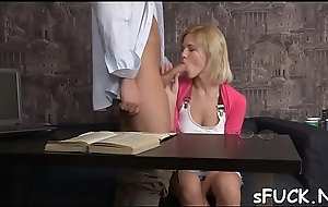 Ardent playgirl could not study before fucking like crazy