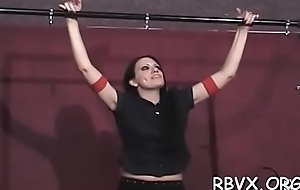 Sexy blindfolded youngster experiences first bondage punishment