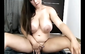 Thick milf with immense tits live porn show