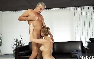Old mature anal Sex with her boycompanion&acute_s father after swimming