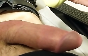 First video stroking myself hard from soft and playing with balls