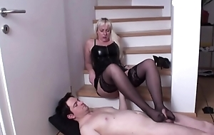 Stocking Ladies play with guys