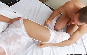 Shemale got asshole fucked by Studs cock