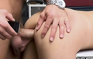LP Officer makes Emily Willis ride her sweet twat on his huge rod!