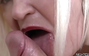 Chubby mature Lacey Starr takes facial cumshot