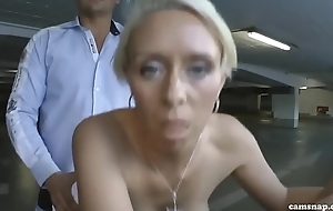 German beauteous fucked in car park for change