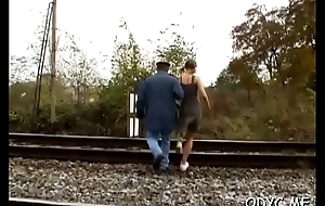 Aged man gets treated nicely by a much younger bitch