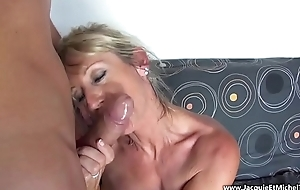 50 year old mom suck a big cock --- Marina Beaulieu (French MILF)
