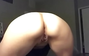 Wife tried to masturbate to my dick videos and cant stop cumming.