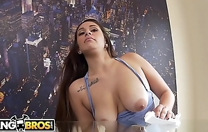 BANGBROS - Latina Maid Evie Olson Cleans The Kitchen And Jmac'_s Big Cock