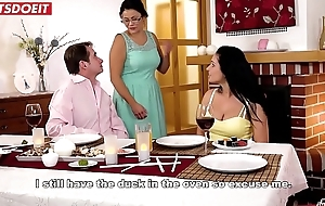 Hot Babe Fucked by Step Dad at Family Dinner (Lucia Denvile)