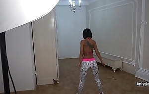 Home fitness with hot busty pornstar Anisyia