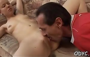 Breasty youngster gets her pussy annihilated by an old lad