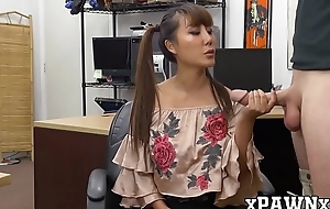 18yo Asian Tiffany Rain doggystyled with pawnbroker cock