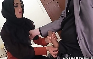 Gorgeous muslim babe fucks for a place to submit to for the night