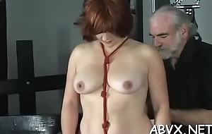 Amateur chick with admirable assets amazing xxx bondage