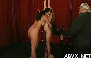 Top notch amateur servitude scenes with young girl