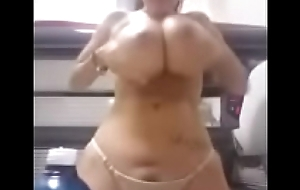 Sexy brunette show her huge boobs - takeclothesoff.live