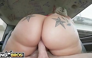BANGBROS - Sashay Media Celebrity Ashley Barbie Bring Her Big Ass On The Bang Bus