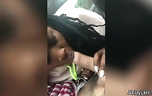 Black Hooker Giving Me A Blowjob In My Car